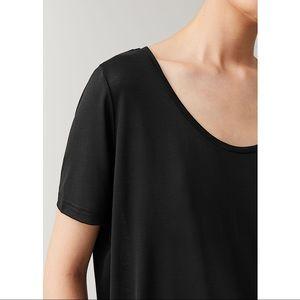 COS Black Scoop-neck Short Sleeve Top